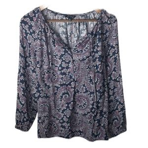 Lucky Brand Peasant Top Long Sleeve